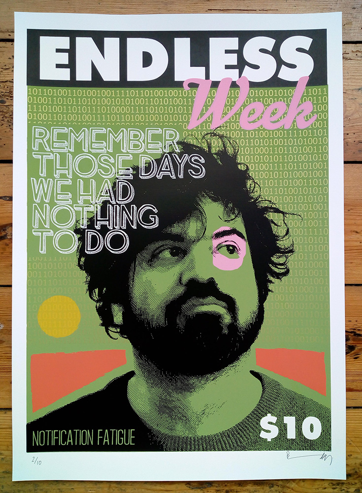 ''Endless Week - Babak'' limited edition screenprint by Richard Pendry