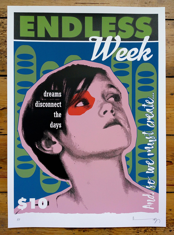 ''Endless Week - Dougal'' limited edition screenprint by Richard Pendry