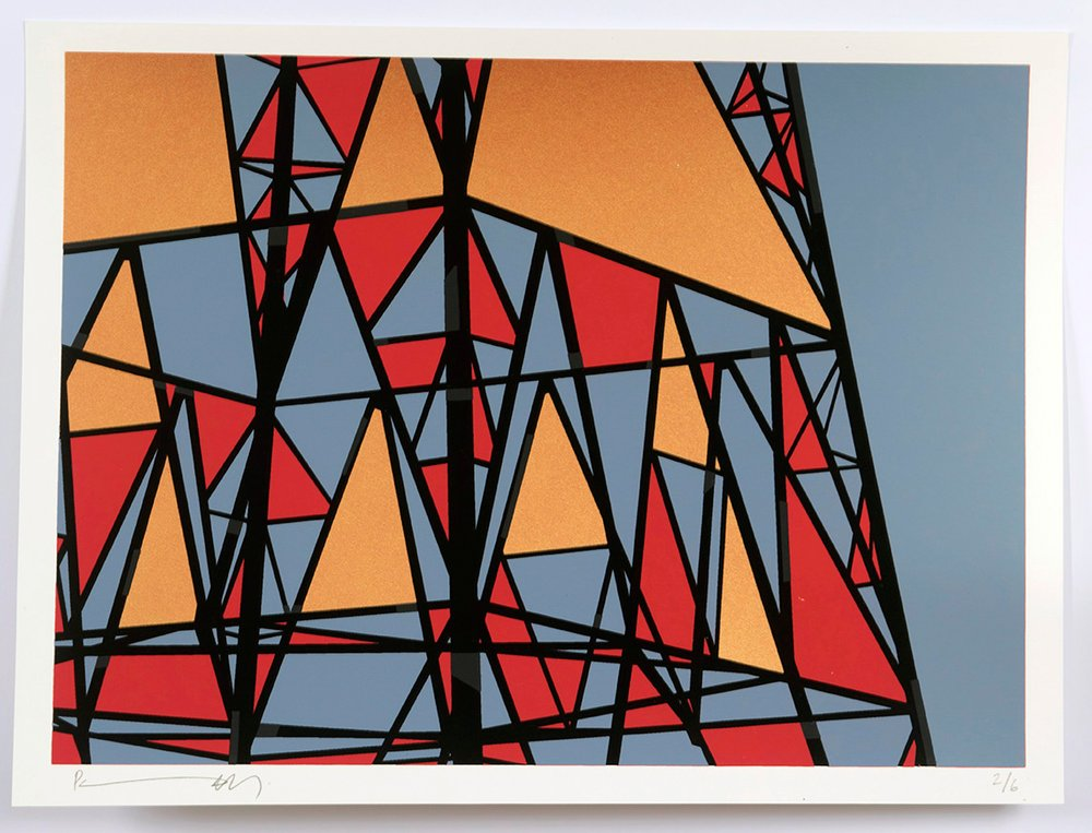 ''Pylon 8'' limited edition screenprint by Richard Pendry