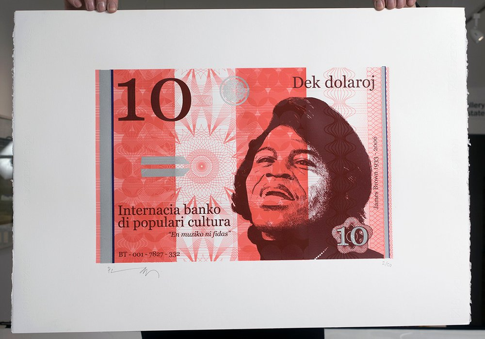 ''10 Dollar James'' large screenprint by Richard Pendry