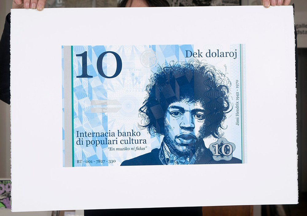''10 Dollar JImi'' large limited edition screenprint by Richard Pendry