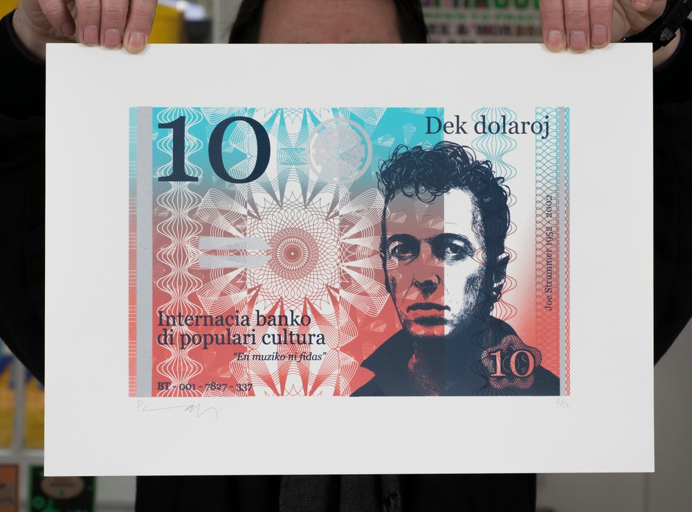 ''10 Dollar Joe'' limited edition screenprint by Richard Pendry