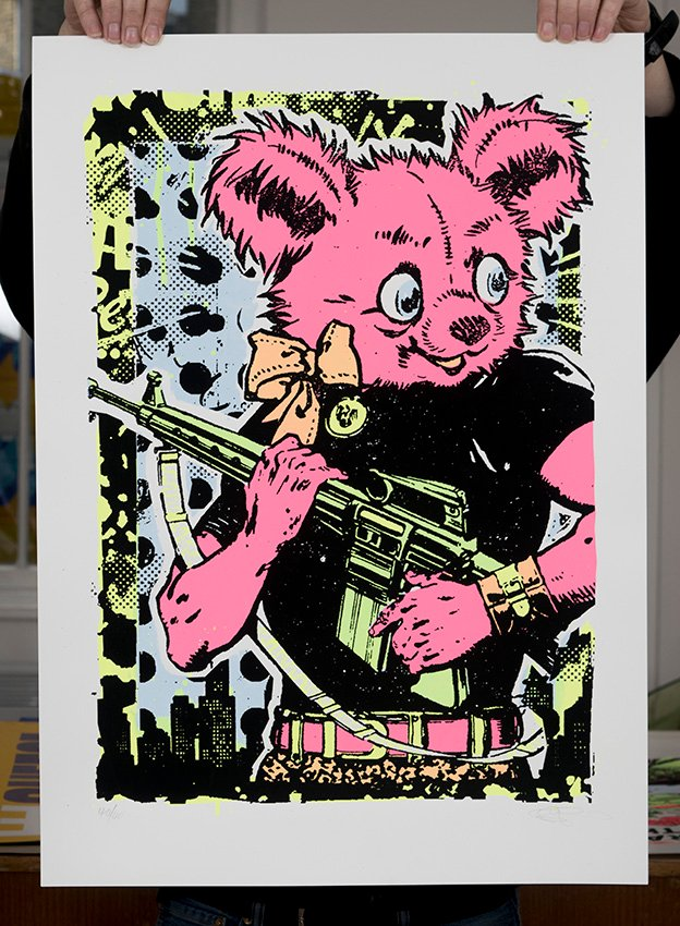''Friendly Fire'' limited edition screenprint by Ben Rider
