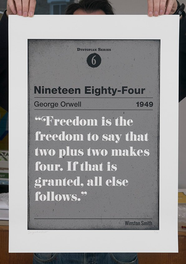 ''Nineteen Eighty-Four'' limited edition screenprint by Serigrafica7585