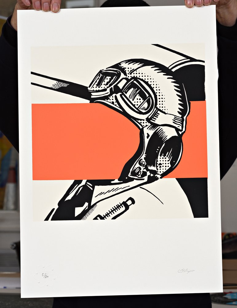 ''IM016'' limited edition screenprint by Carl Stimpson