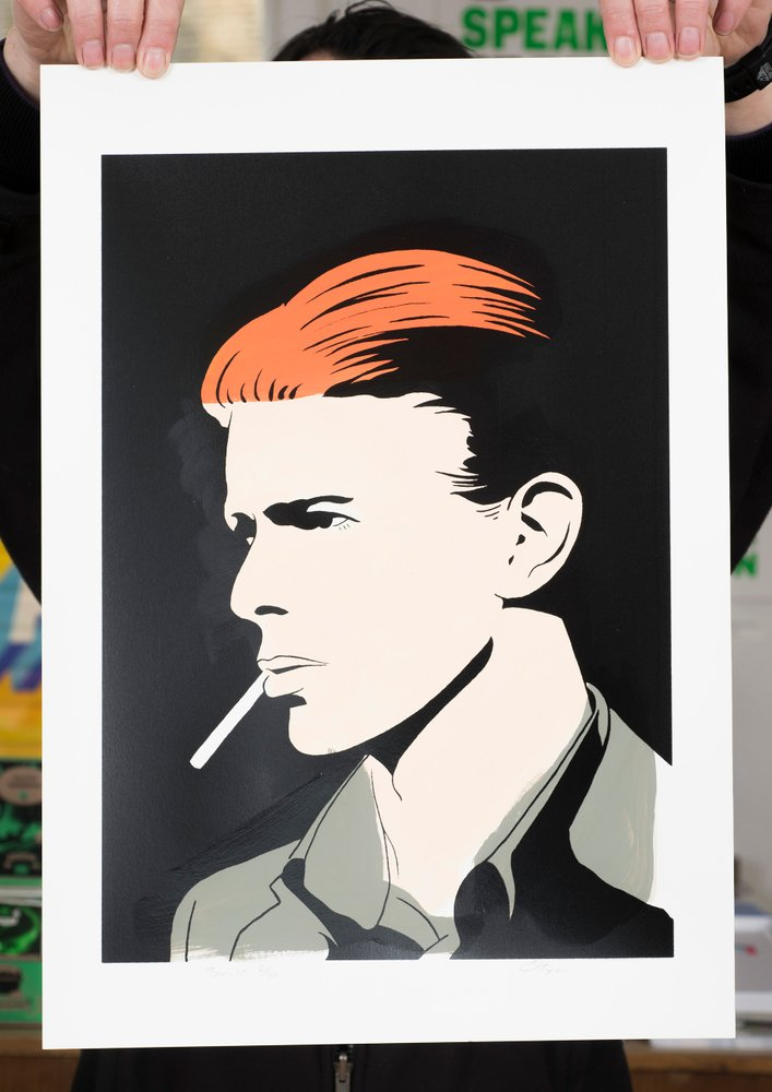 ''David Bowie'' limited edition screenprint by Carl Stimpson