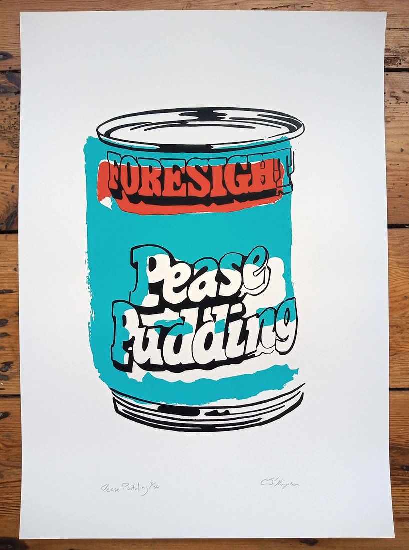 ''Pease Pudding'' limited edition screenprint by Carl Stimpson