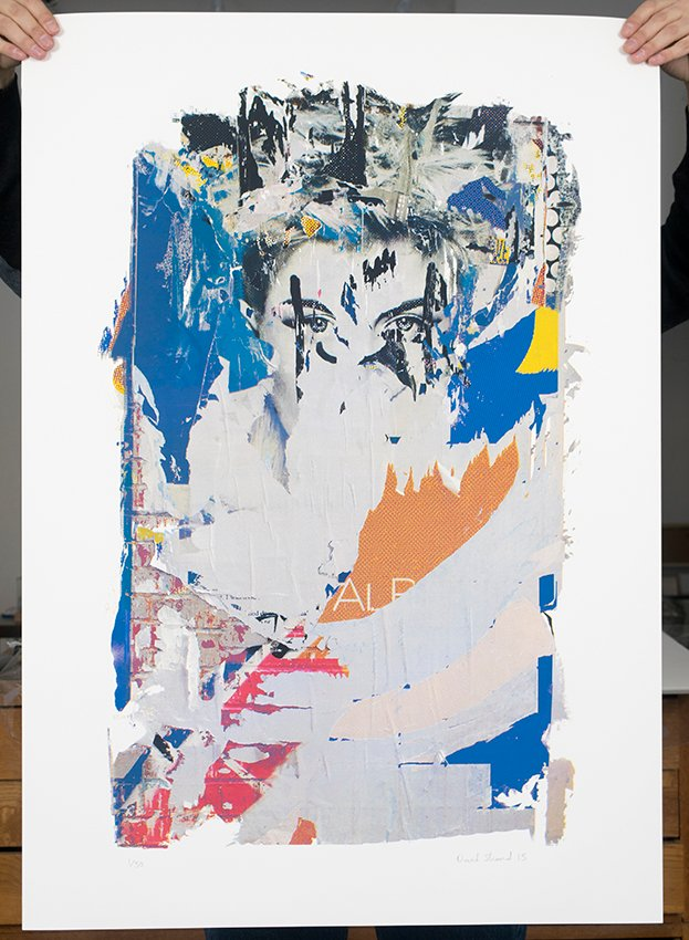 ''Face 2'' limited edition screenprint by David Shand