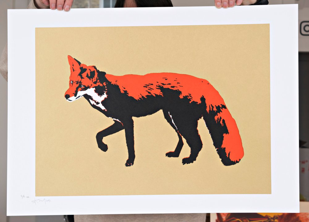 'Fox' limited edition screen print by Stewy