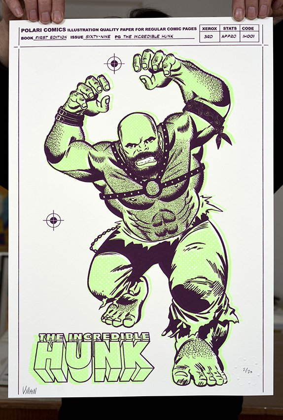 ''The Incredible Hunk'' limited edition screenprint by Villain
