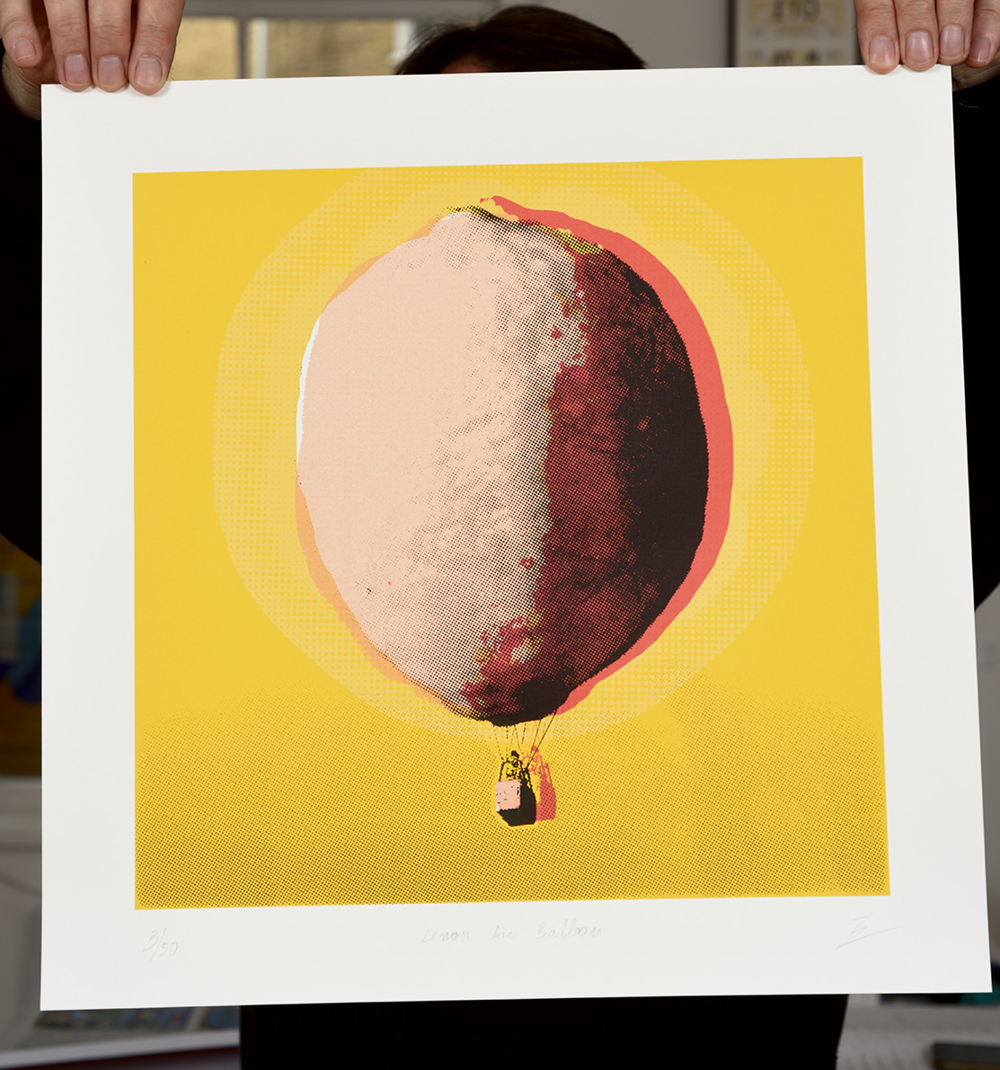 ''Lemon Air Balloon'' limited edition screenprint by Ze Monteiro