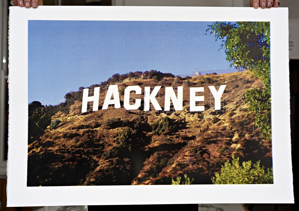 ''Hackneywood'' limited edition screenprint by Richard Pendry