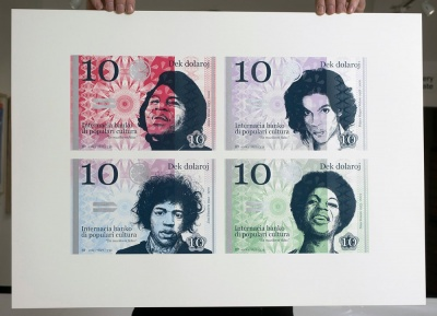 ''4 Ten Dollar banknotes'' ltd edition screenprint by Richard Pendry