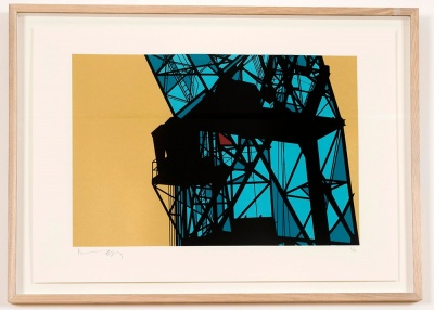 ''Crane (Antwerp)'' limited edition screenprint by Richard Pendry