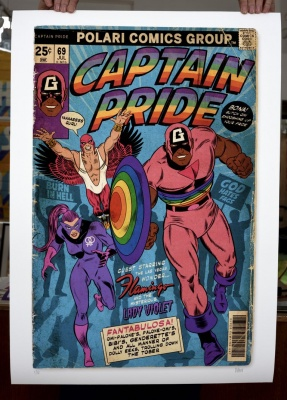 ''Captain Pride'' limited edition giclée print by Villain
