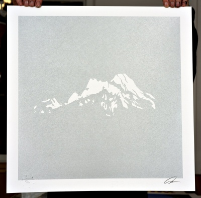 ''White Peak'' limited edition screenprint by Yoni Alter
